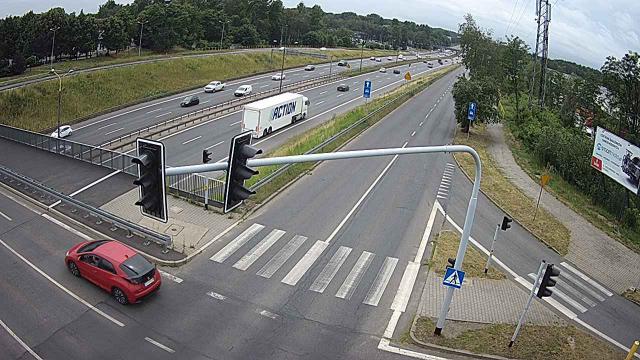 Ulica Baczyńskiego kierunek Katowice DS 86