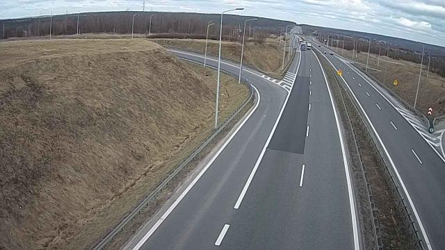 Węzeł Zalezianka kierunek Warszawa DS 7